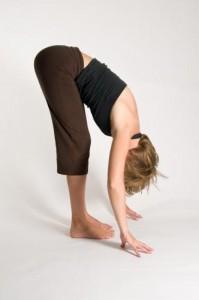 uttanasana with bent knees