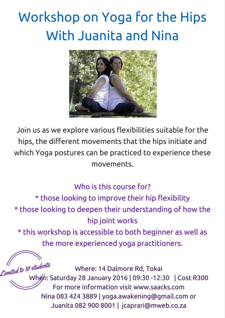 Yoga with Juanita & Nina – Workshop on Yoga for the Hips